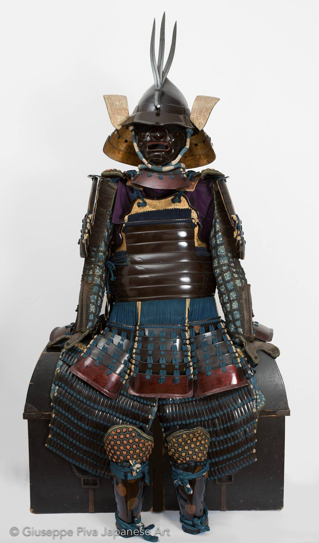 Leather samurai armor, mid Edo period  (1615-1867)